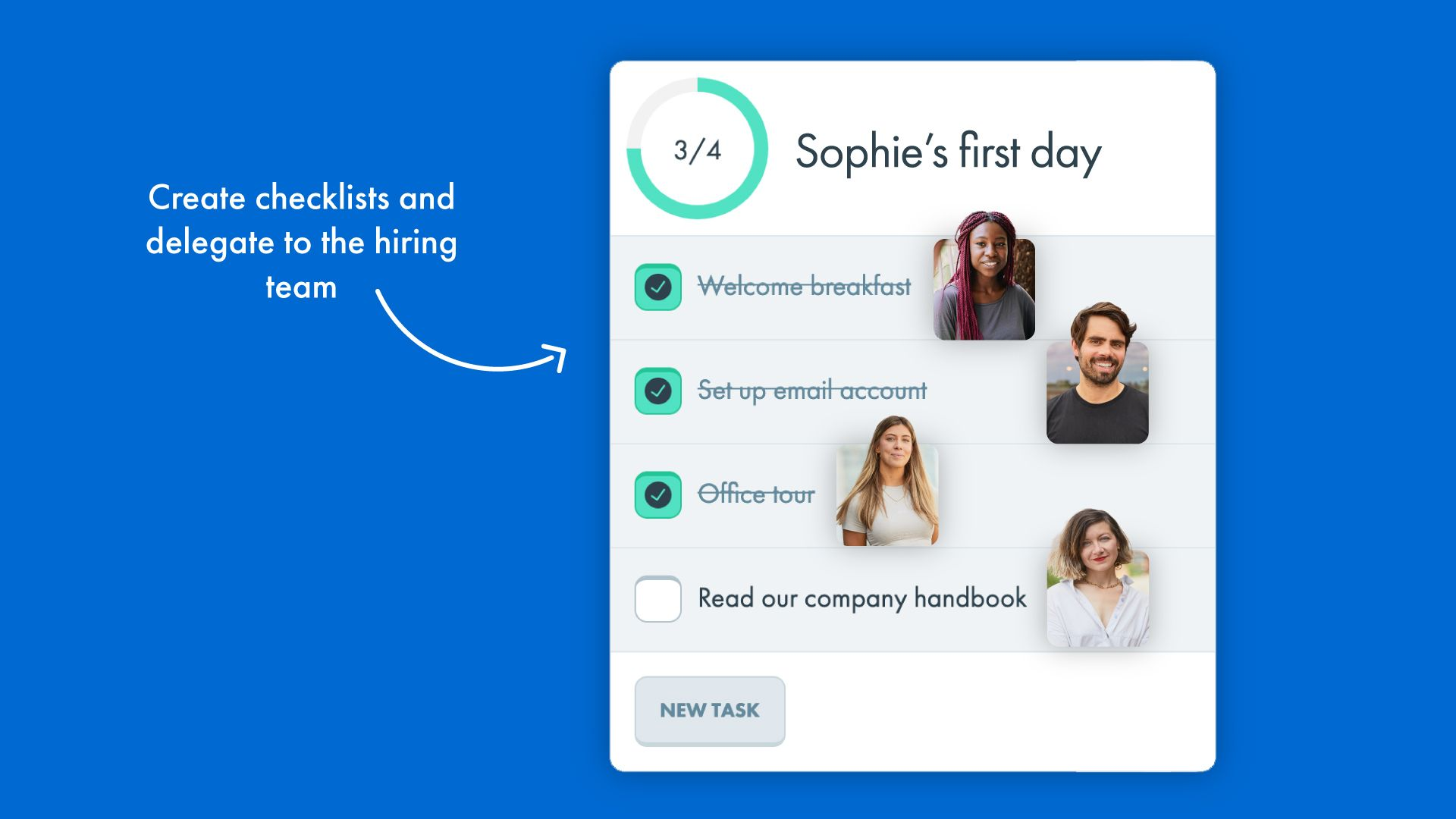 Onboarding steps Checklist feature for CharlieHR